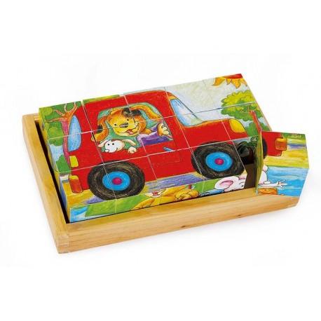 Puzzle cubes «Animaux»