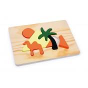 Puzzle en bois Pyramides